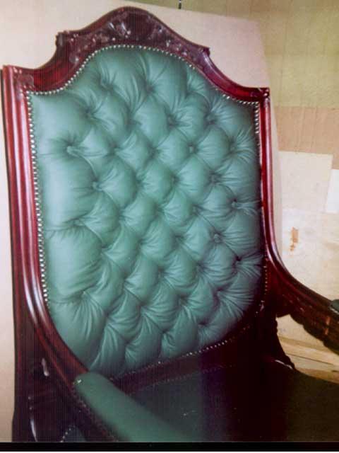 вид спинки кресла