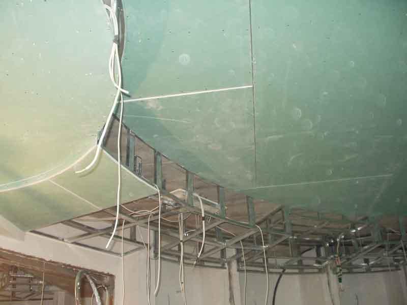 потолок подвесной гипсокартоновый