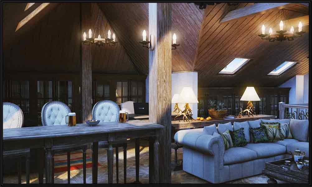 дизайн загородного дома шале