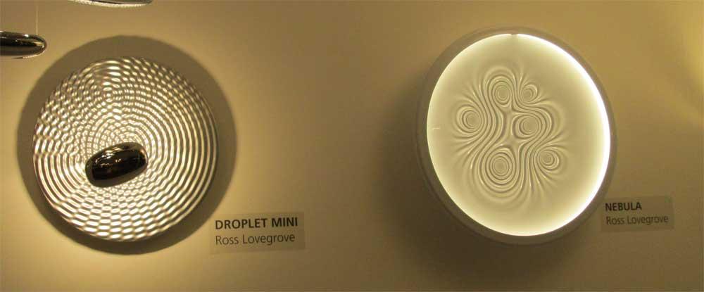Настенные светильники в виде круглых дисков