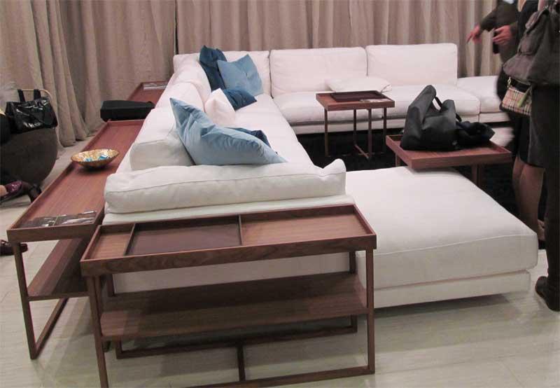 П образный угловой диван