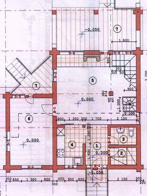 1 этаж  дома