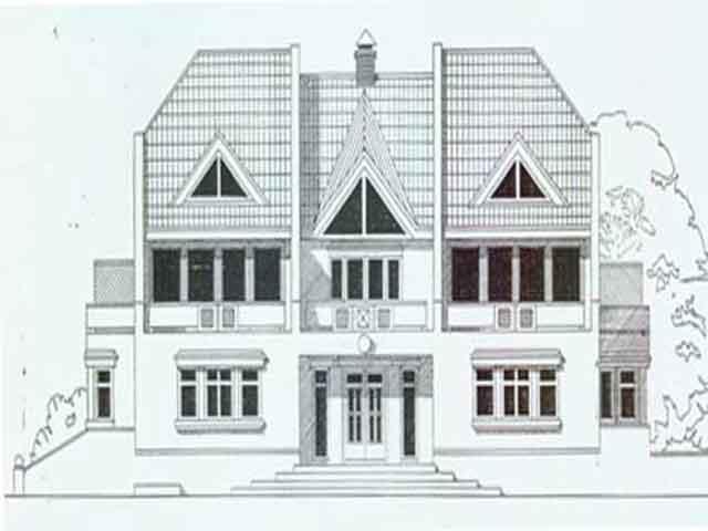 дом сбольшими окнами