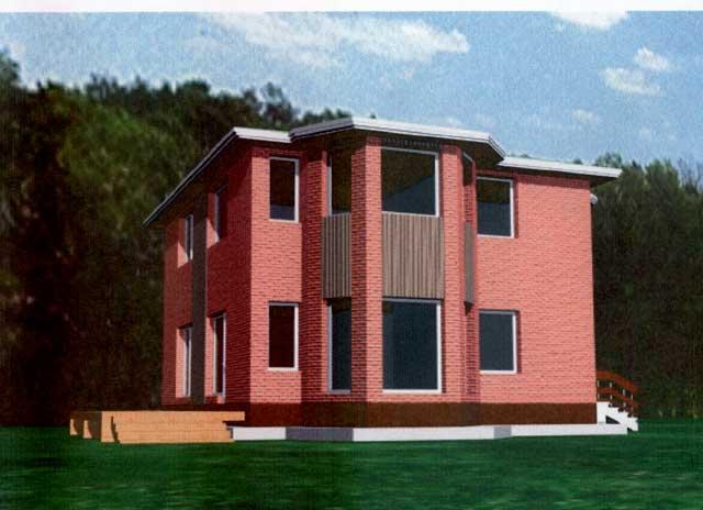 дом из двух этажей