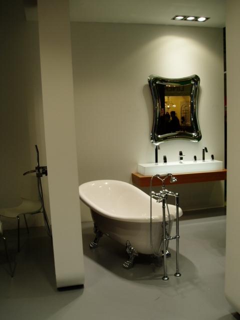 Серебристая ванная комната