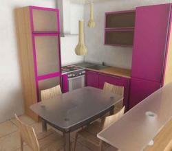 тесная кухня фото