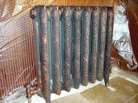 покраска радиаторов отопления ретро. под старину