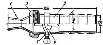 машины для штукатурных работ, бескомпрессорная штукатурная форсунка конструкции Оргстроя б. МСПМХП