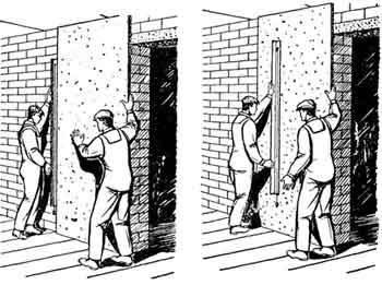 крепеж листов к стене