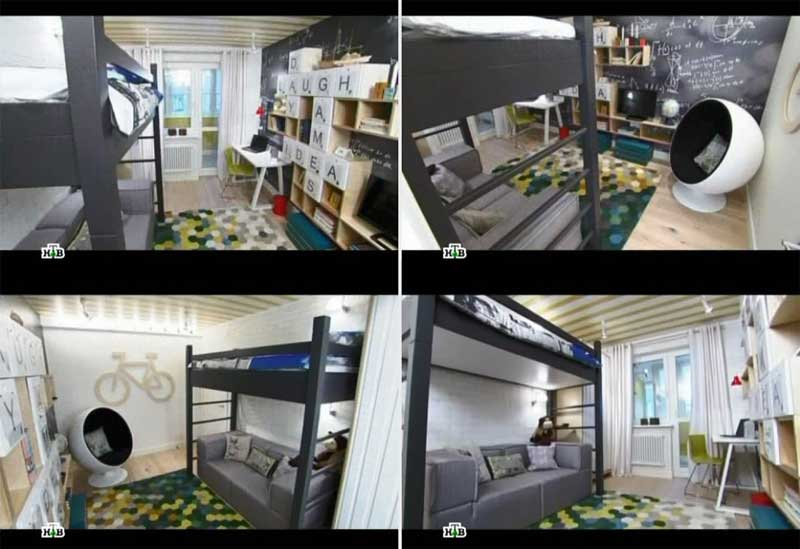 фото детской комнаты для подростка, черный цвет в детской
