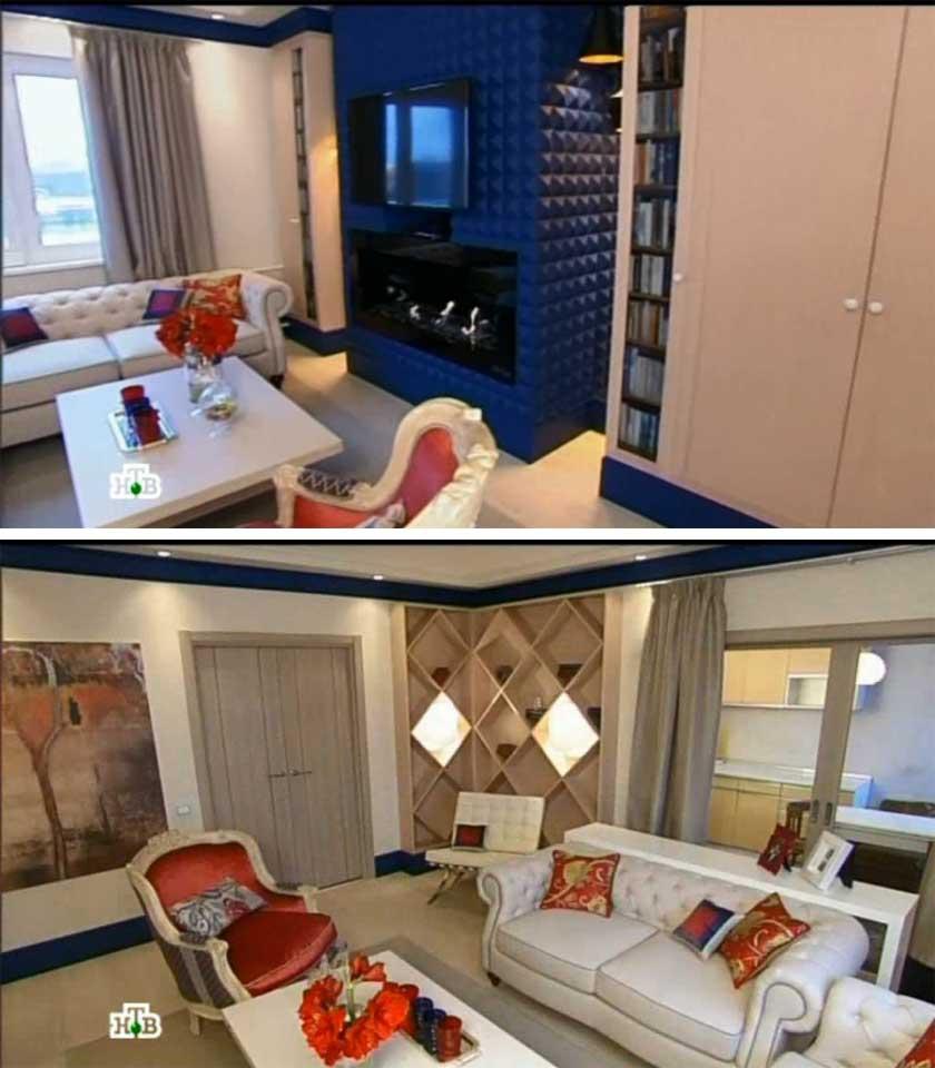 декорирование интерьера гостиной в стиле рококо