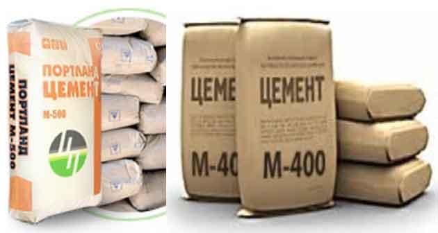 цемент М 400, цемент в мешках