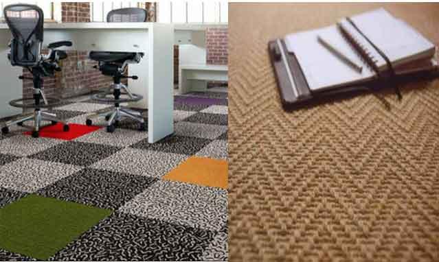ковролин и ковровая плитка в офисе