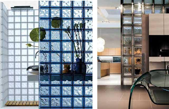 стеклоблоки для стен и перегородок, ремонт квартиры со стеклоблоками