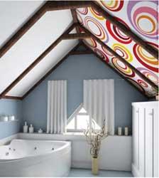 монтаж натяжного потолка в ванной комнате