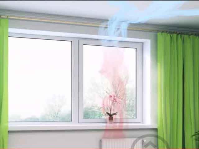 пластиковое окно с калапаном AIRBOX