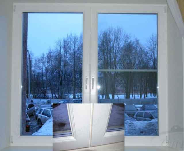 деревянное окно с рамой