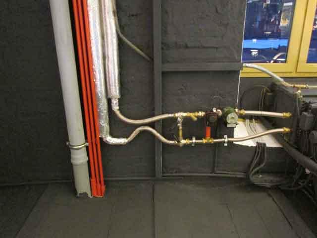 внутренняя сеть трубопроводов