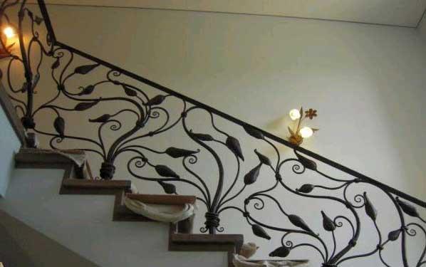 фото кованные перила лестницы