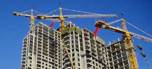 фото строящего здания из железобетона