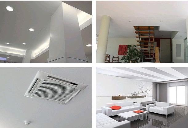 натяжные потолки использовать в офисах и квартирах