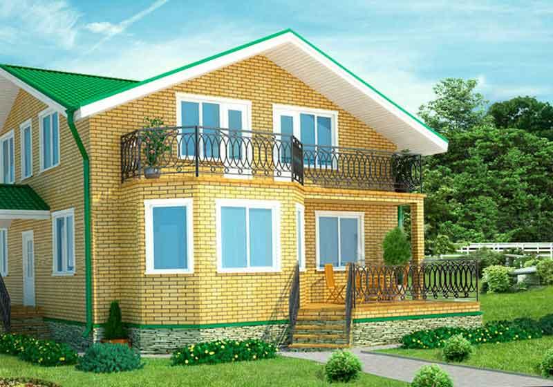 Фото готового кирпичного дома