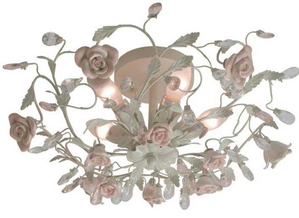 фото люстры с цветами, люстра флористика