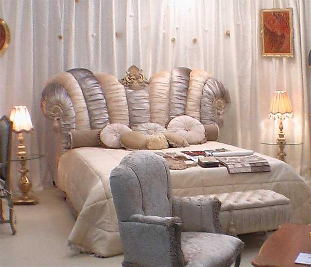 дизайн и отделка интерьера и стен спальни в стеле романтизм
