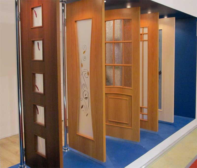 фото шпонированных дверей, двери с натуральным шпоном