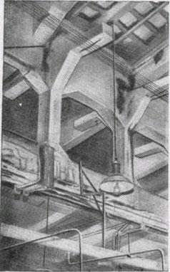 фото разрушения монолитного покрытия здания