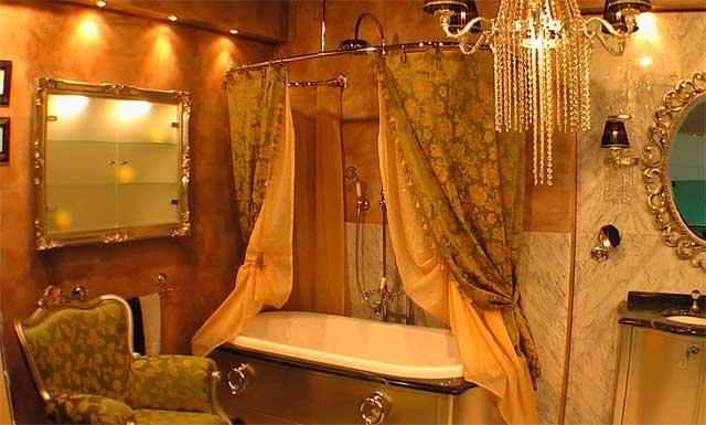 аксессуары в интерьере ванной комнаты
