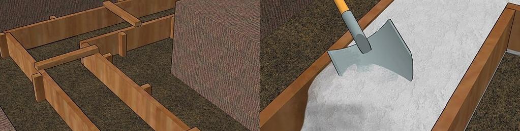 фото устройства опалубки для ленточного фундамента
