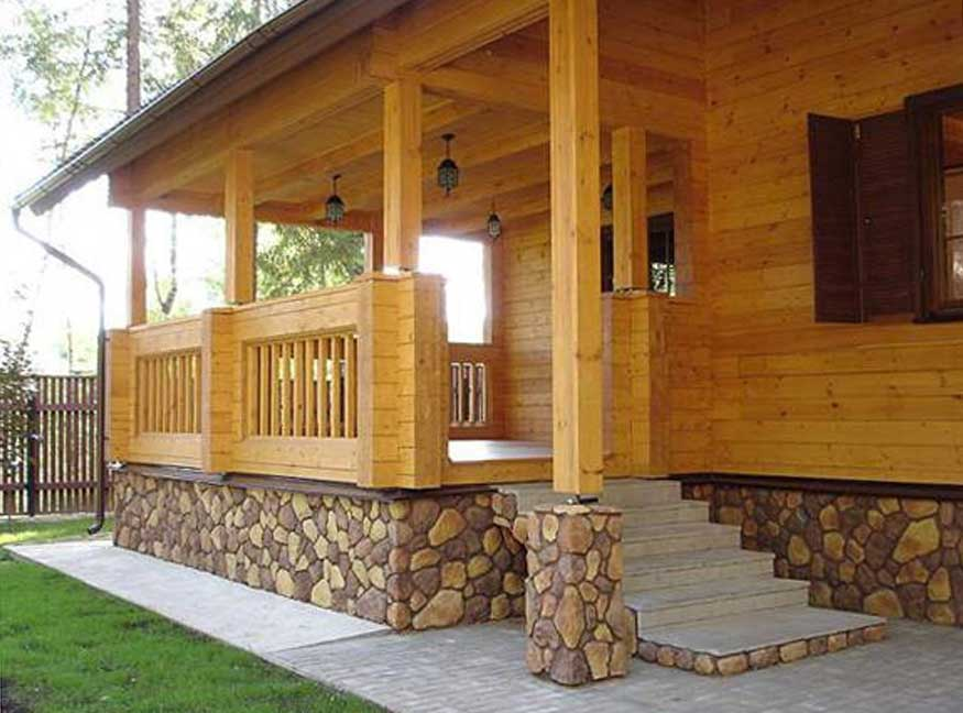 Веранда деревянного дома своими руками