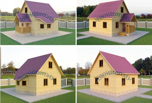 фото проекта садового домика из бруса