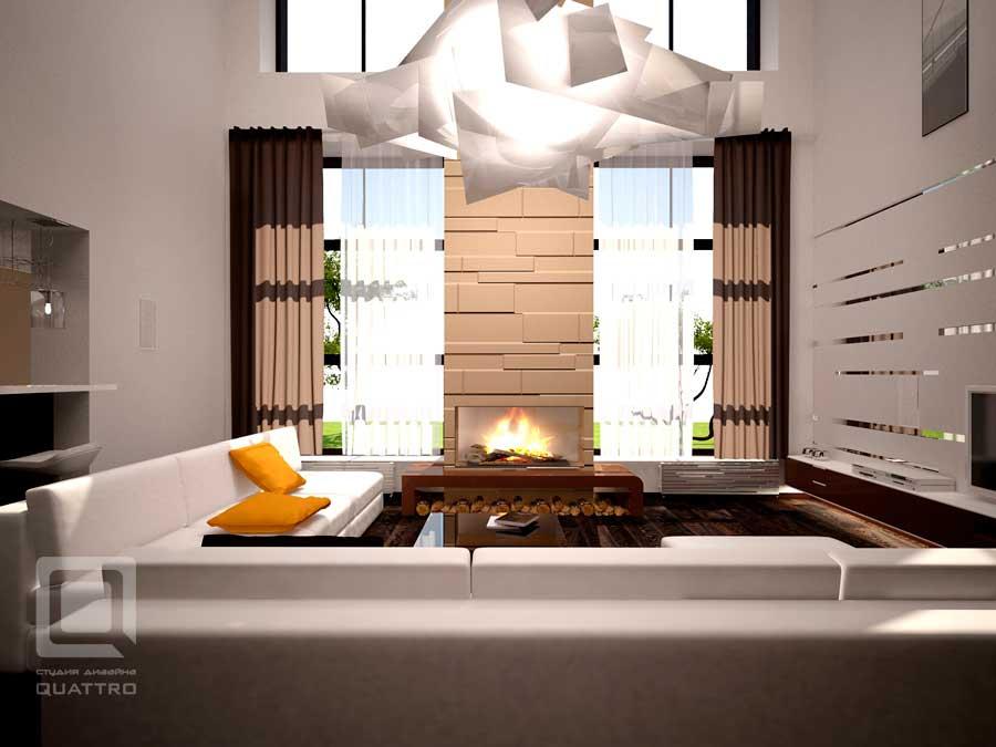 фото внутреннего дизайна загородного дома