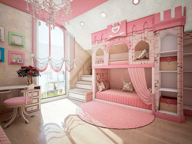 сочетание цветов в интерьере детской комнаты