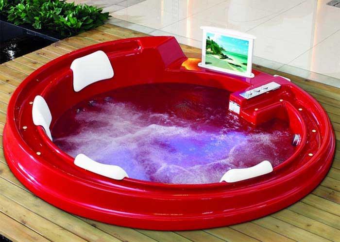 фото цветной акриловой ванны