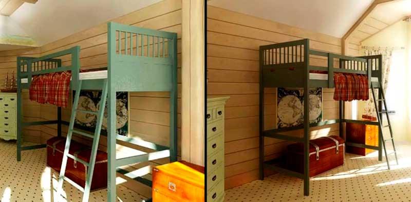 стиль кантри в интерьерах детских комнат