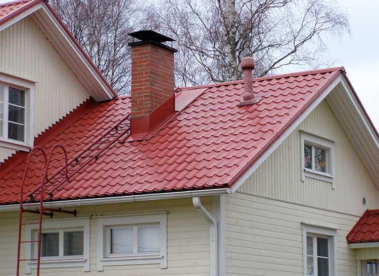 фото дома с кровельной лестницей