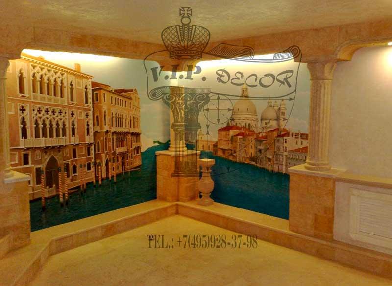 фото художественной росписи стен