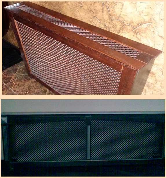 фото деревянных экранов для радиаторов отопления