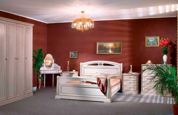 интерьер спальни Сомово в классическом стиле