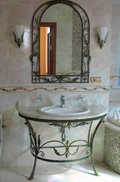 фото кованой мебели для ванной