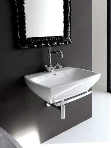 фото подвесной раковины в ванной