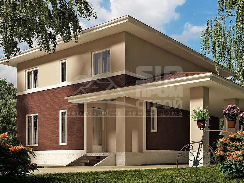 фото проекта дома из сип панелей
