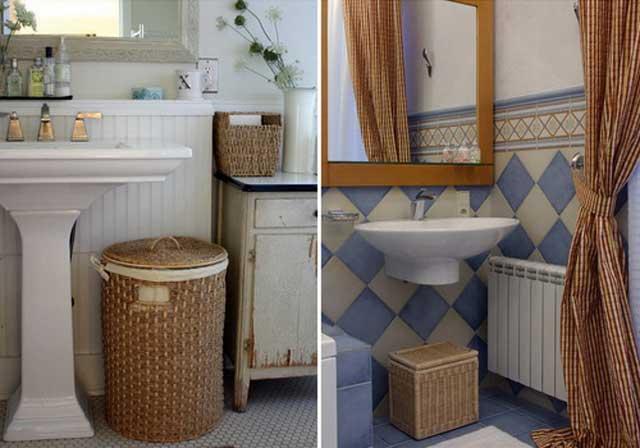 Корзина для белья в ванную комнату