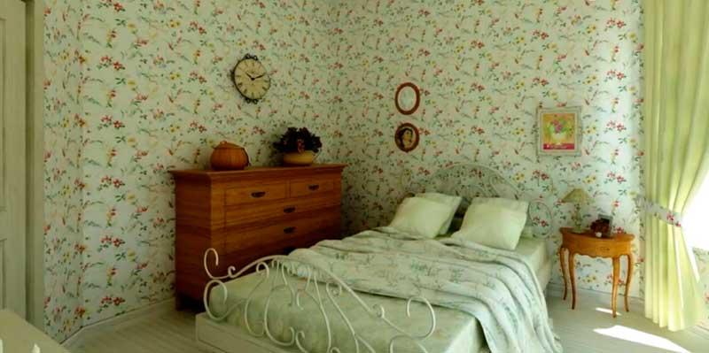 декорирование интерьера спальни под стиль кантри
