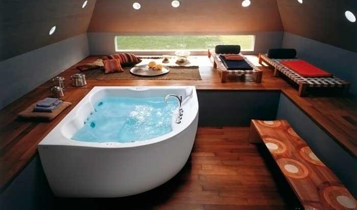 фото угловой ванны из акрила