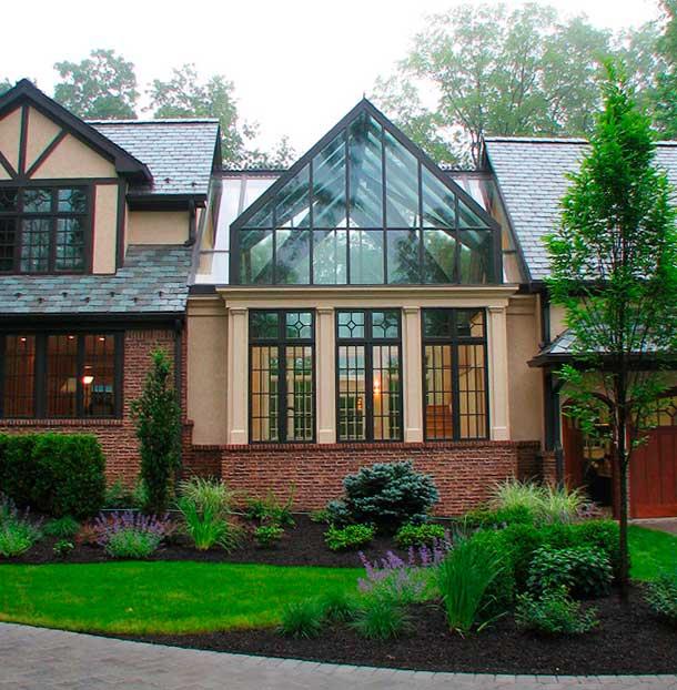 фото дома с зимним садом