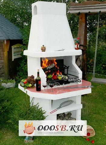 фото Стационарная барбекю печь
